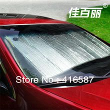 Silver aluminum foil Free shipping Car Sun shade, front window sunshade(China (Mainland))