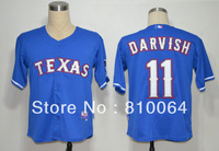 Free shipping Texas Rangers baseball jersey # 11 Yu Darvish jerseys Mixed order