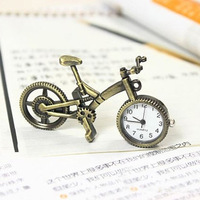 Vintage small bicycle pocket watch accessories table pocket watch necklace table decoration Free shipping free shipping