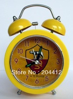 AS Roma FC Soccer Stainless Steel Twin Bells Alarm Clock