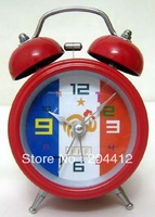 FRANCE SOCCER TEAM 2 BELL STAINLESS STEEL ALARM CLOCK