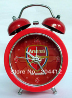 ARSENAL FC SOCCER 2 BELLS STAINLESS STEEL ALARM CLOCK red #04