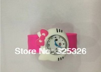 New arrival lovely hello kitty fashion watches children slap cheap watches,Multicolor animal shape silicone watch wholesale