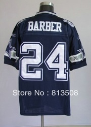 Free shipping hot sale American Football Teams niuzai 24# Marion Barber New Versions Men&#39;s Elite Embroidery logos sports jerseys(China (Mainland))