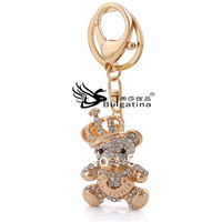Newest Bear Crystal Keychains Fashion Jewelry For Women Wholesale Rhinestone Key Chains Free Shipping