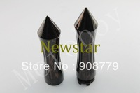 """Free Shipping Brand New Black Brown 1"""" inch Motorcycle Handlebar Hand Grips + Throttle Control Spike"""