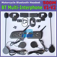 1pcs/Lot New 2 x BT Bluetooth Intercom Motorcycle Helmet Interphone & Bluetooth Helmet Intercom With 1000m Free Shipping
