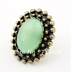 Min order $10(Mix order) Retro fashion opening golden ring free shipping(China (Mainland))