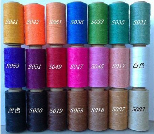 Gratis verzending 300 yds 0.9mm 43 kleur diy naaien draden lederen naaien lijn was gewaxt snoeren draad treksterkte voor tas portemonnee(China (Mainland))