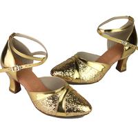 women's Latin dance shoes women's paillette ballroom dancing shoes ballroom dance shoes