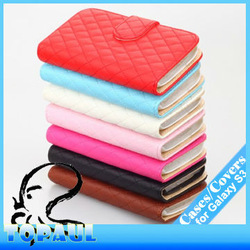 Free shipping i93063,20pcs/lot mix colour credit card hold wallet style PU leather purse case for galaxy s3 cell phone accessory(China (Mainland))