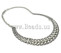 FREE SHIPPING Fashion Costume Jewelry Antique Silver Plated Necklace New Choker Collar Statement Costume Jewelry Bib Necklace