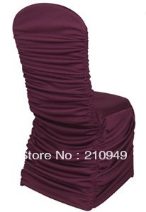 free shipping 50pcs banquet chair covers for sale ruffle chair cover spandex lycra chair covers(China (Mainland))