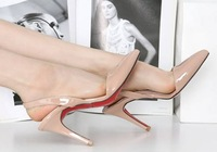 Free shipping fashion 2013 spring new arrive pumps sexy pointed toe red bottom high heels girls sandals shoes woman SXX33029