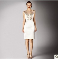 2013 fashion womens elegant dresses formal brand dress white sleeveless free shipping dropship wholesalers