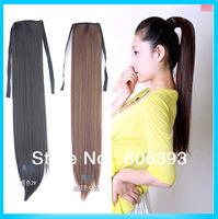 Women&#39;s Cute Synthetic Long Straight Ponytail Lovely  wig 3 Colors Free Shipping