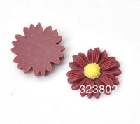 20MM Flatback Resin Cabochon Coffee Sunflower Cell Phone Case DIY Handmade Decoration Accessory 30PCS