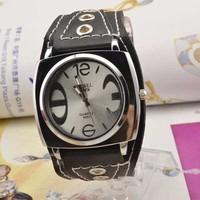 Hip Hop Fashion Men Watch Large Dial Quartz Watch Leather Watch Ladies Watch Christmas gift ML0347