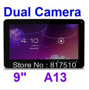 """9"""" Android 4.0 Allwinner A13 Cortex A8 512MB 8GB Capacitive Screen Tablet PC"""