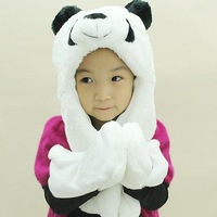 children winter plush long animal hat