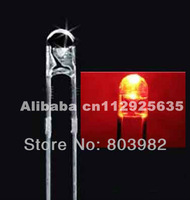 3X4.1mm DIP 3mm round led RED color water clear led diode 1.7-2.2V(CE&Rosh)without fringe