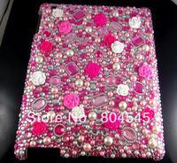 Diamond 3D Rose Bling Crystal Hard Back Case for Ipad mini