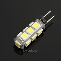 HOT Free Shipping 4pc G4 2.6W LED Bulb 5050 SMD Pure White or Warm White Car Side Wedge Light Lamp Tail Light DC 12V 80170 80171