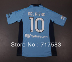 2012-2013 Thailand Quality Sydney FC #10 DEL PIERO home soccer jersey, Sydney FC soccer uniforms (original brand &amp; tags)(China (Mainland))