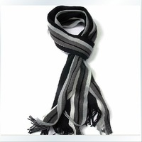 F04459-5 5pcs Fashion England Stlye Longer Color Matching Striped Warm Scarf neckerchief for Men Boys +free shipping