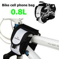 ROSWHEEL New Fashion Bicycle Multi Function Bike Beam Tube Bag Bike Mobile Phone Bag Bicycle Accessories