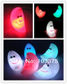 2pcs/Lot  moon smiley lamp moon lilliputian lamp small night light colorful romantic gradient lights Free Shipping