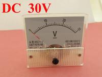 10pcs DC 0 30V White Analog Volt Voltage Panel Meter Voltmeter Gauge 85C1