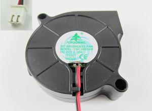 4pcs Brushless DC Cooling Blower Fan 5015 FSY50S24M DC 24V 50x50x15mm 2 Pin