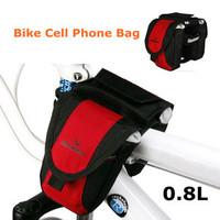 ROSWHEEL New Fashion Bicycle Multi Function Bike Beam Bag Red Bike Mobile Phone Bag