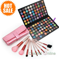 Professional 120 Colors Makeup Eye Shadow Palette (S)+9 pcs pink brush set