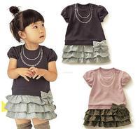 XZ2012-059 Free shipping NEW 5pcs/lot Baby clothing dresses children shirt dress girls' wear