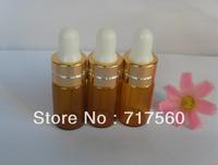 Wholesale 200pcs lot 3ml Amber Glass Eye Dropper Bottles/Vials Essential oil botttles Storing Dispay Sample Bottles,New & Empty