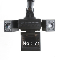 Mini Rotatable Dual Lens Dual Camera Vehicle Car DVR Dashboard Video Recorder HD