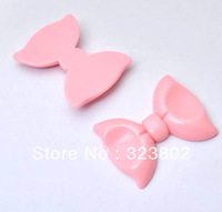 55MM*45MM Pink Bow Flatback Resin Cabochon Cell Phone Case DIY Handmade Decoration Accessory 12PCS
