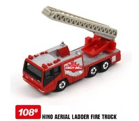 Genuine multi US TOMICA 108 wild aerial ladders fire engine simulation alloy car models,mini Pixar Cars figure  free shipping