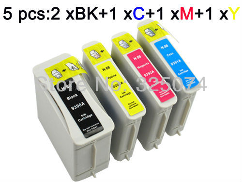 5 ink cartridge compatible for HP 88 / 88XL Officejet Pro K550 K5400 K8600 L7580 L7590 L7680 L7780(China (Mainland))