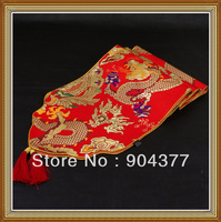 1pcs Free shipping  Luxury High Density Brocade Dragon  Oriental  Long Tablecloths  Table Runners ,  Bed Runner  Many color