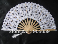 (100 pcs/lot) Handmade 7.9'' Plain White Color Wedding Gift Fans