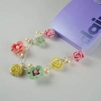 Min order$15 will free shipping B16 christmas fashion : beautiful multi-colored flower bracelet f458