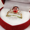 New Arrival 18K Rose Gold Plated Red Crystal Fashion Female Engagement Ring Free Shipping Classic Finger Ring