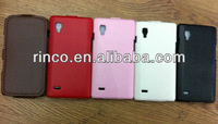 10pcs/lot free shipping New Flip PU Leather Case for LG Optimus L9 P760