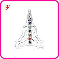 free shipping hotsell 20pcs a lot silver Chakra Buddha Necklace Pendant