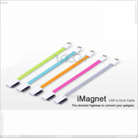 22.5CM Portable Magnetic colorful DataCable for iPhone iPad P-DATACABLE006