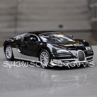 DIECAST METAL 1/32 SOUND & LIGHT PULL BACK BUGATTI VEYRON CAR MODEL
