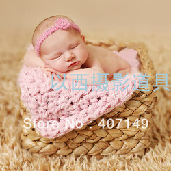 MODEL# DJ-13-0118-16,free shipping,sholesale,handcraft straw basketry,baby photograph props(China (Mainland))